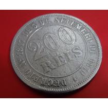 Moeda 200 Reis - De 1871-brasil -bom Estado