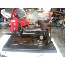 Máquina De Costura Antiga Manual Clemes Muller Século Xviii