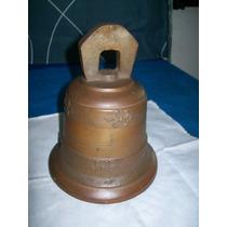 Antigo Sino De Bronze Maciço