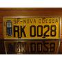 Antiga Placa Automotiva Amarela Sp - Rk 0028