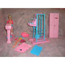 Barbie Antiga Da Estrela Na Academia De Ginastica