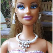 Bijuteria/ Joia Boneca Barbie - Branco Neve