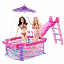 Barbie Kit De Piscina Real - Mattel - Acessórios Incluso