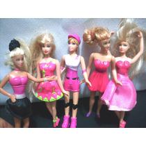 Kit Com 5 Mini Bonecas Barbie Mc Donalds Ler Anuncio
