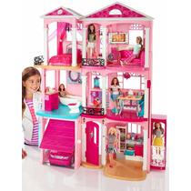Casa Da Barbie 3 Andares House Dreamhouse + 4 Barbies