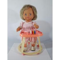 Antiga Boneca Com Andador Meplastic Anos 80 - Veja O Video