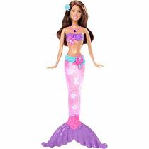 Barbie Sereia Luz E Brilho Lilás - Mattel