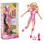 Boneca Barbie Quero Ser Jogadora Futebol Rosa - Com Itens