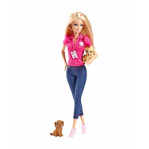 Boneca Barbie Protetora Dos Animais: Cachorros - Mattel