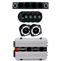 Kit Caixa Corneteira + 4 Driver + 2 Tweeter + Modulo Ts400x4