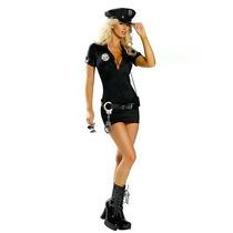Fantasia Feminina De Policial À Pronta Entrega