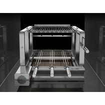 Elevgrill 584 Prime Inox Grelha Elevatória + Motor C Espetos