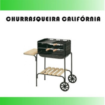 Kit Churrasqueira Portatil Grill Churrasco Grelha Pre #l816