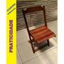 Cadeira Dobrável Em Madeira Para Lanchonete