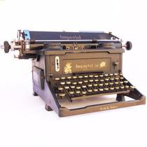 Antiga Máquina De Escrever Imperial 58 Inglesa Datilografia