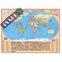 Mapa Mundi Politico Escolar - 120cm X 90cm - Frete R$5,00