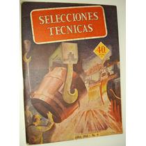 Revista Antiga Anos 40 Seleções Técnicas Vintage Argentina
