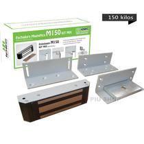 Kit Fechadura Eletroima Eletromagnética Ipec Cinza Ou Branca