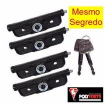 Fechadura Porta De Aço Lateral Polyforte Mesmo Segredo 4 X 4