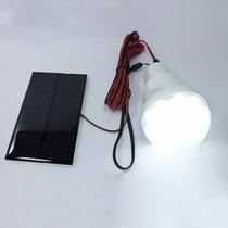 Lampada Solar 12led Pendente Jardim Garagem Pronta Entrega!!