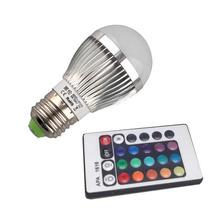 Lampada Led Rgb Colorida E27 3w Controle Remoto Com Efeitos