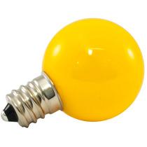 25pk - G30 Globo Led 0.5w Vidro 120v E12 Regulável Amarelo