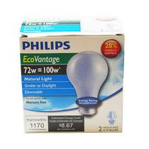 Philips 72w 120v A19 E26 Daylight Azul Halogênio - 2 Lâmpa