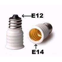 Adaptador Rosca E12 Para E14 1 Lote Com 12 Unidades