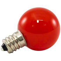25pk - G30 Globo Led 0.5w Vidro 120v E12 Red Pode Ser Escure