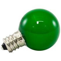 25pk - G30 Globo Led 0.5w Vidro 120v E12 Regulável Verde