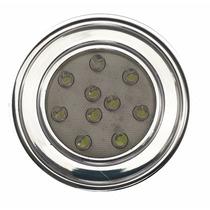 Spot Cromado Redondo Embutir P/ Móveis 10 Leds 1w Luminária