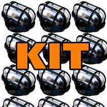 Kit 13 Luminárias Tartaruga De Vidro + Lampada Led ! Externa