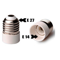 Kit Com 12 Soquete Adaptador E14 Para E27