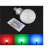 Lampada Led Rgb 10w E27 16 Cores+controle Ideal Para Sputnik