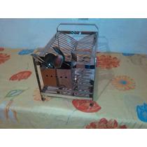 Escorredor De Aço Inox 20 Pratos Com Porta Talh De Aço Inox