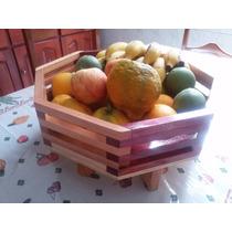 Fruteira Fruta De Mesa Feito Com Madeira De Lei