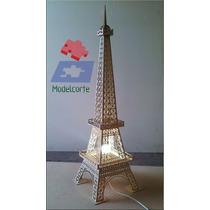 Sedex Gratis Luminaria Torre Eiffel Mdf 3mm 2,00m P/ Montar