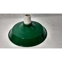 Luminaria Industrial Aluminio Cor Verde Agata Com Soquete 8d