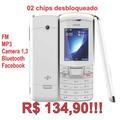 Celular Niivo Zb1 2 Chip Desbl Ultra Fino Fm Mp3 - 1,3 $134