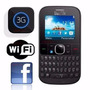 Alcatel Onetouch 3075m 3g Wi-fi Facebook Mp3 Qwerty Br +nf