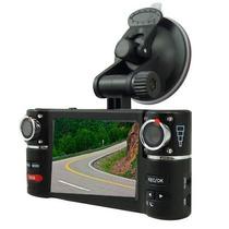 Camera Dupla 2x Gravação Hd Dvr Frente E Tras Alta Qualidade