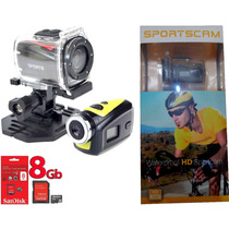 Camera Filmadora Digital Hd Capacete Moto Bicicleta + 8gb