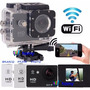Câmera Sport Cam Filmadora Prova Dágua Hd Wifi Visor X4000