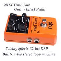 Pedal Delay Nux Time Core - Novo - 7 Efeitos Diferentes