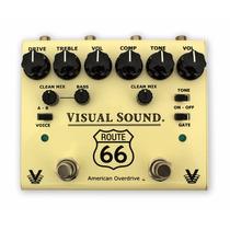 Pedal V3 Route66 Visual Sound - Overdrive E Compressor
