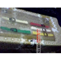 Cinco Pulseiras Coloridas Relógio Champion Modelo Antigo