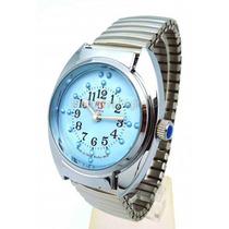 Relógio De Pulso Braille Masculino Pulseira Tipo Bracelete