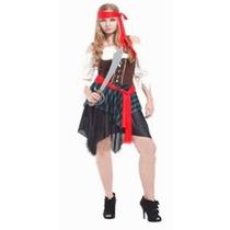 Fantasia Feminina Pirata Combate - Tamanho Único