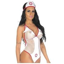 Sexshop -kit Fantasia Sexy Enfermeira + Produtos Sensuais