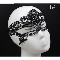 Mascara Sexy Veneziana Carnaval Erótica Em Renda Mod. 1